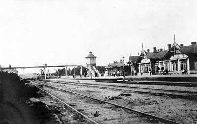 Вырица. Станция Московско-Виндаво-Рыбинской (Царскосельской) железной дороги. Фото 1900-1910-х гг.