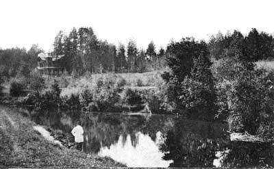 Вырица. Река Оредеж возле дачи Бумагина. Фото 1900-1910-х гг.