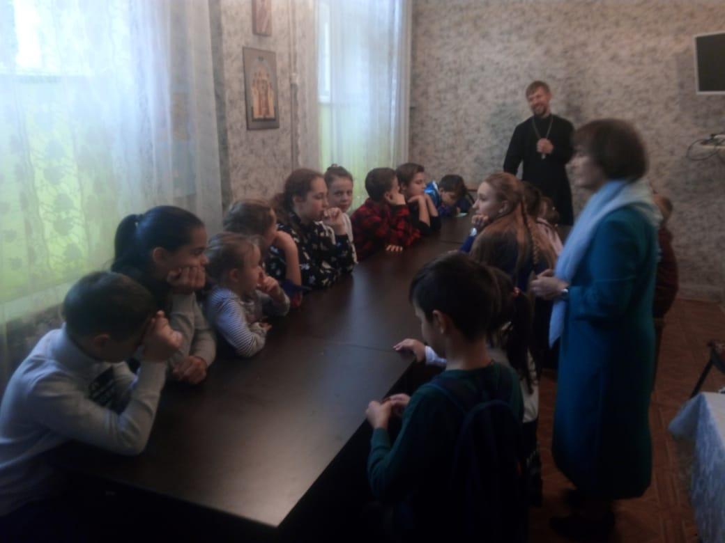 28 сентября состоялось первое занятие в воскресной школе